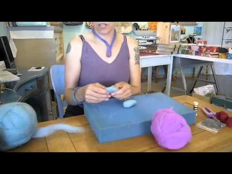 Michelle Martin of Purple Moon Fibers; How to Make a Felted Fish