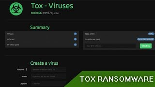 Tox Ransomware || Lets you create your own?