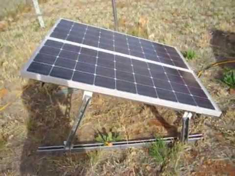 My Solar Panel Set Up And New Frame - YouTube