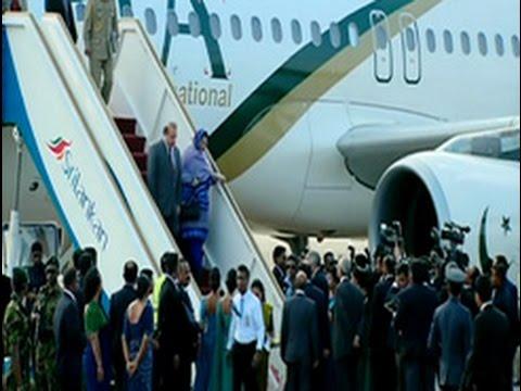 Nawaz Sharif arrives for three-day official visit