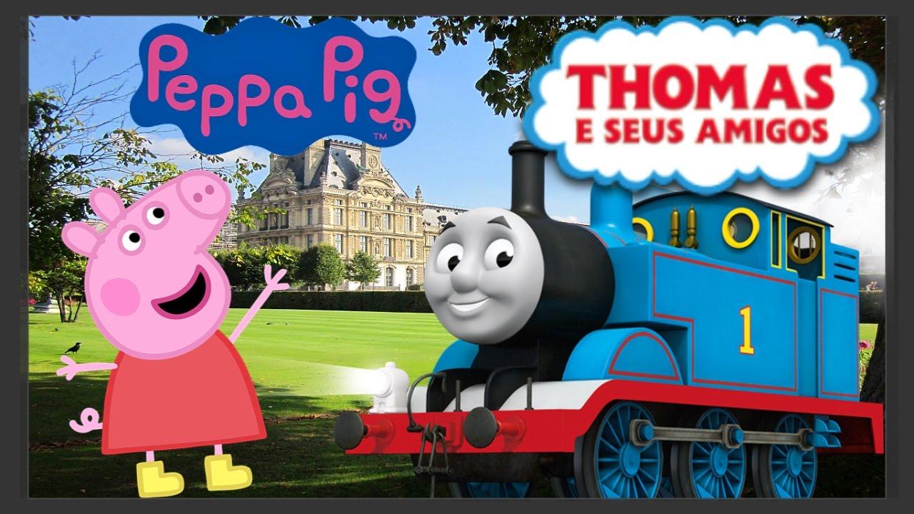 Trem Thomas E Seus Amigos Peppa Pig E Barbie Infantil Youtube