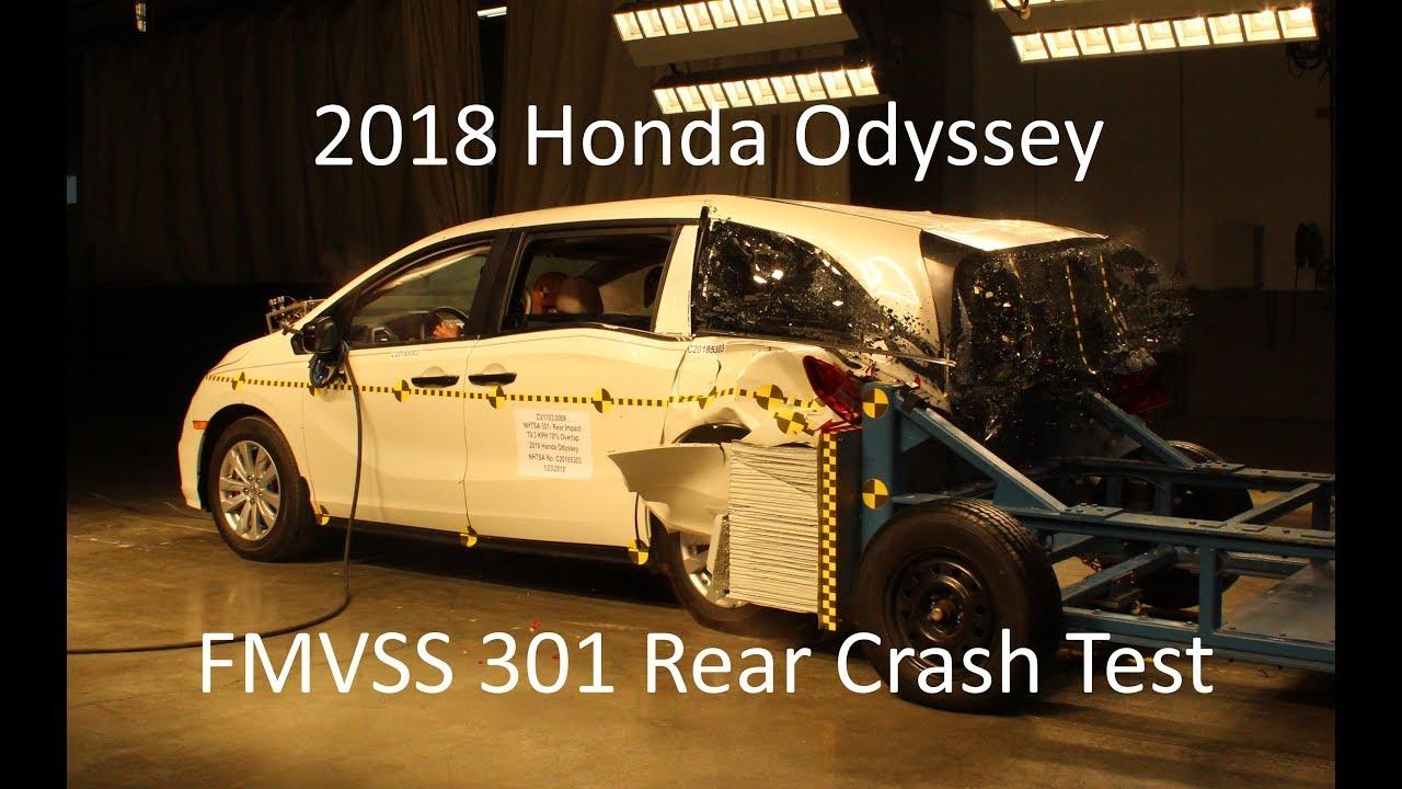2018 2019 Honda Odyssey Fmvss 301 Rear Crash Test 50 Mph
