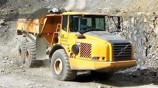 VOLVO A25D - dump truck in a quarry part II.