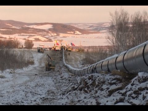 China Completes Russia-bound Oil Pipeline In Border Town
