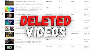 Exposing My DELETED Videos...