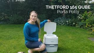 Thetford 0402222N WC Toilette Portatile Porta Potti Qube 165