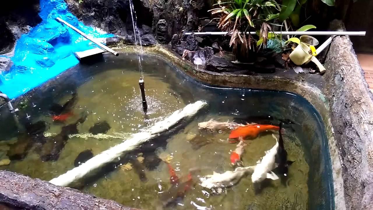Air mancur kolam ikan  YouTube