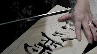 Calando en madera, simbolo reiki.MPG