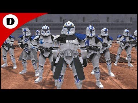 Captain Rex Infiltrates Battle Droid Factory! - Men Of War: Star Wars Mod