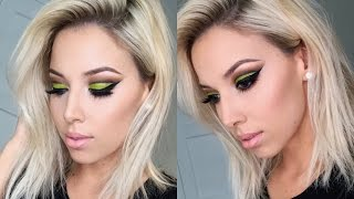 Neon Green Cut Crease QUICK TUT | LUSTRELUX