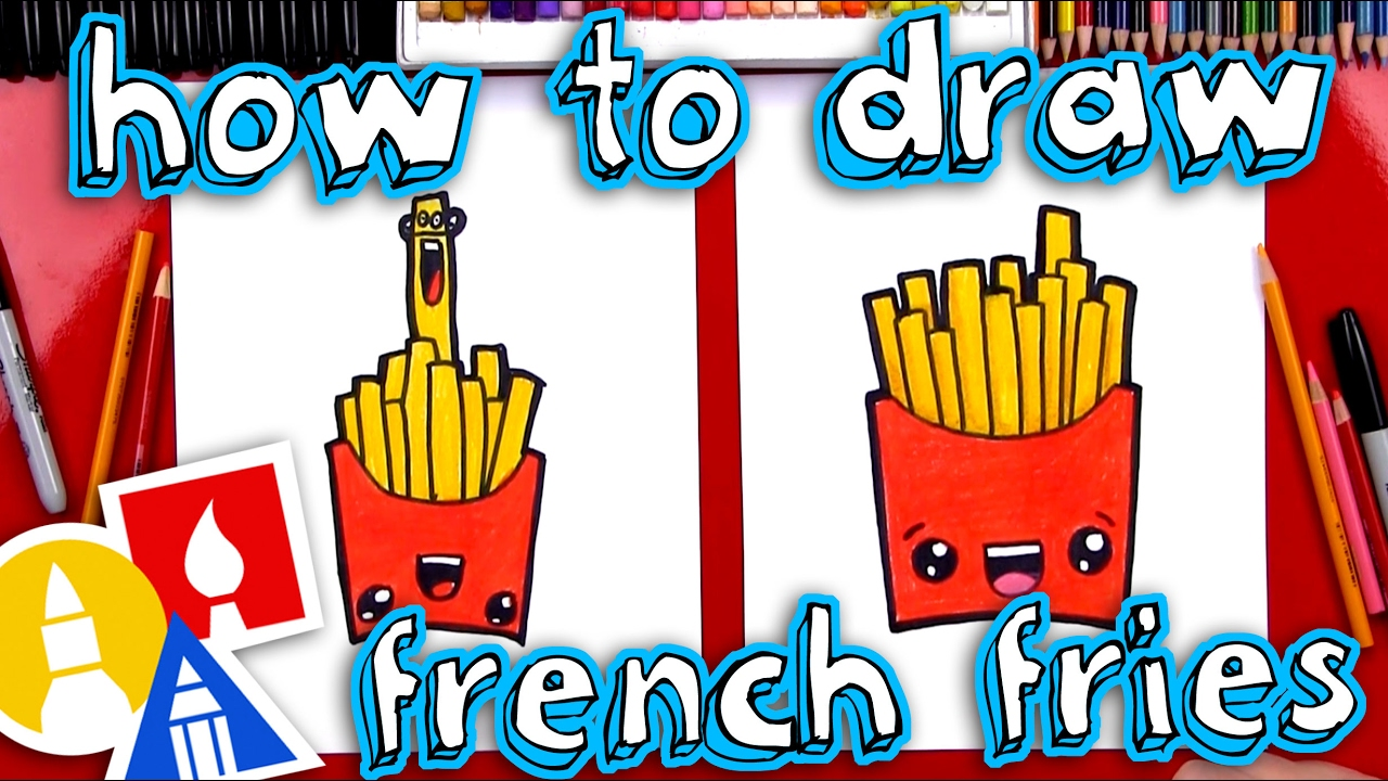 Arte Learn French How To Draw Funny French Fries