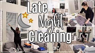🌙 RELAXING! AFTER DARK CLEAN WITH ME :: SAHM CLEANING ROUTINE + HACKS :: SPEED CLEANING MOTIVATION