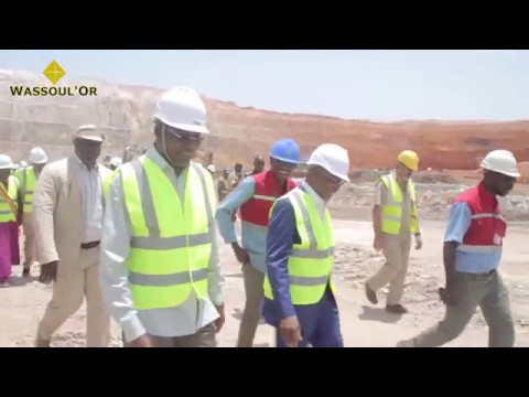 2017 05 10 Visite du Ministre des Mines du Mali sur le site de Wassoul'Or