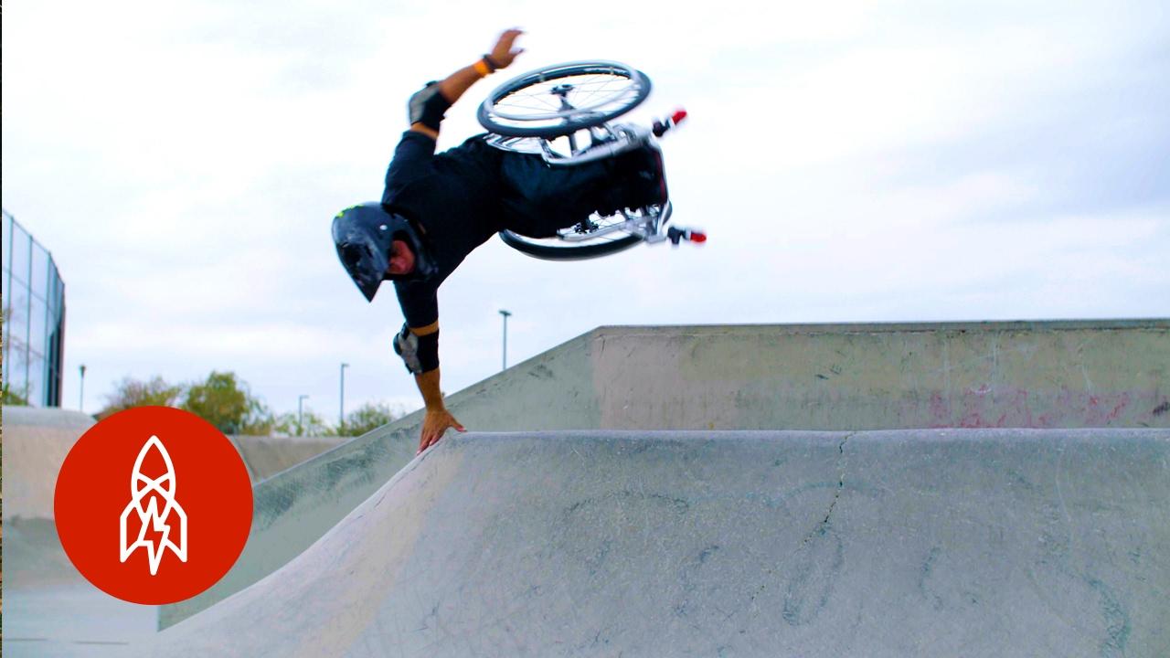 a70f5b7d Wheelz in the Air: Hitting the Skatepark on a Wheelchair - YouTube