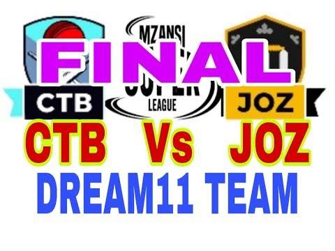 CTB vs JOZ Final Mzansi Super League| South Africa T20 league| Dream11 Team| Playing 11| Team News