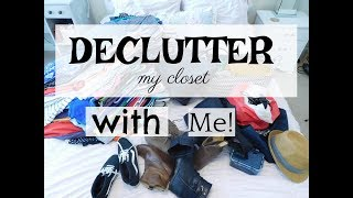 DECLUTTER My Closet   KONMARI Method   Clean With Me