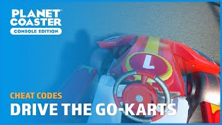 Driving the Go-Karts - Cheat Codes - Planet Coaster: Console Edition