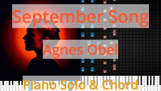 🎹Solo & Chord, September Song, Agnes Obel, Synthesia Piano