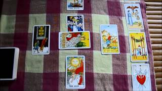 Rider-waite Tarot Card Reading Celtic Cross Spread For Sarah