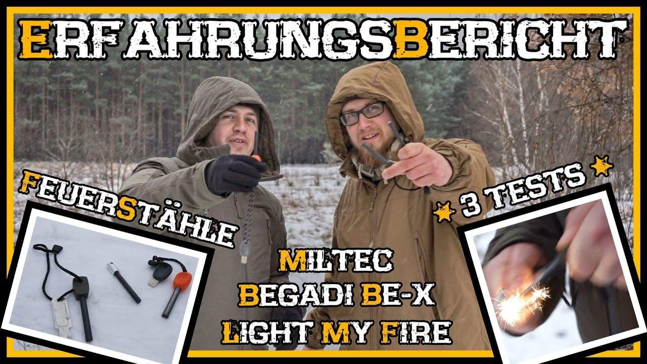 feuerstahl firesteel vergleich miltec begadi be x light my fire outdoor bushcraft. Black Bedroom Furniture Sets. Home Design Ideas
