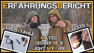 Feuerstahl Vergleich - Miltec Begadi BE-X Light my Fire - Outdoor Bushcraft Deutschland