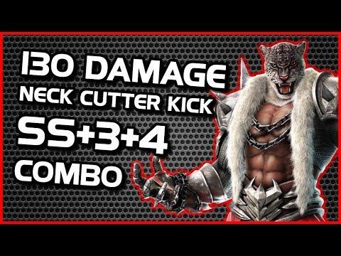 SS+3+4 Neck Cutter Kick - 130 Dmg Combo & Burning Knuckle - Armor King Tekken 7 Guide