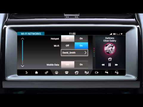 Jaguar F-PACE 2017 | InControl Touch Pro Connectivity