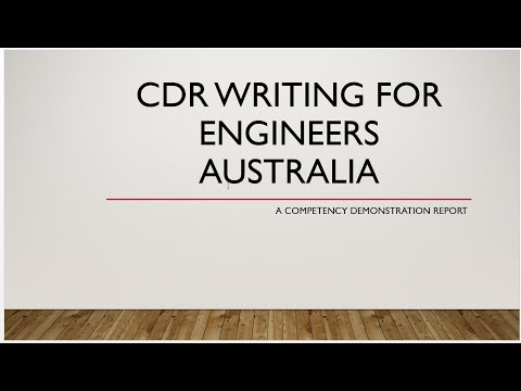 How To Write Competency Demonstration Report (CDR) / Career Episode (CE) For Engineer Australia 2020