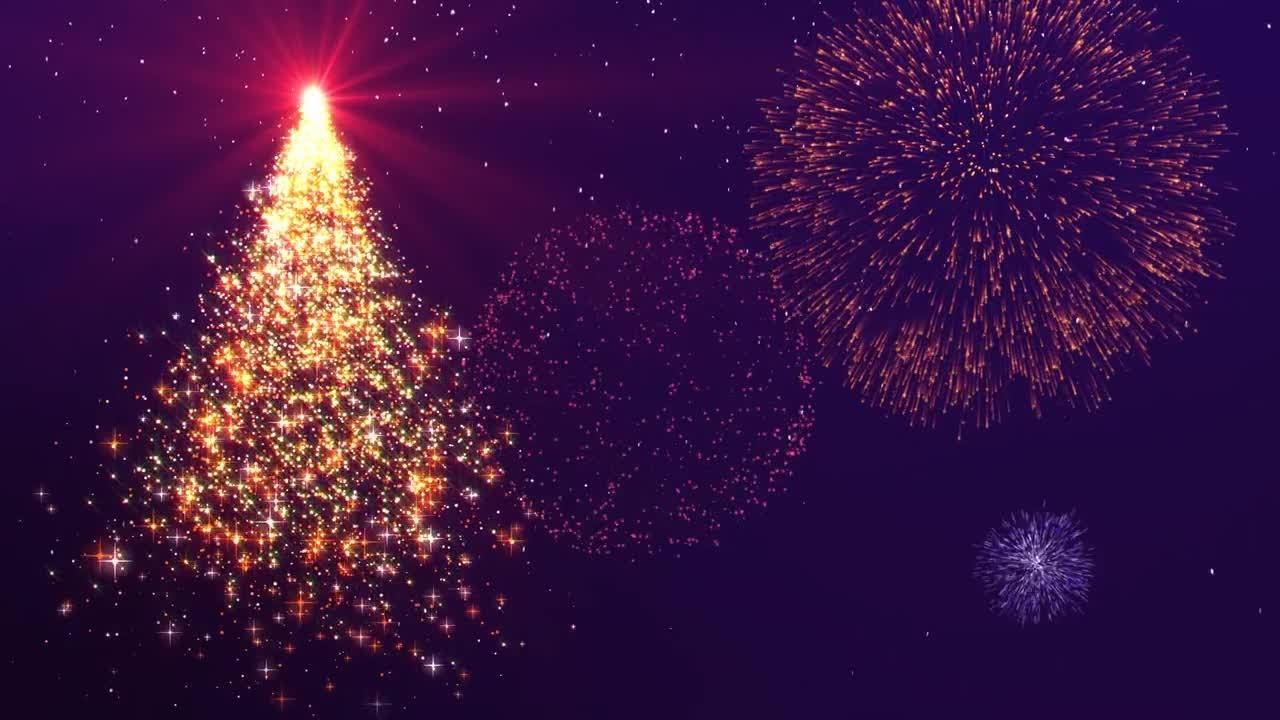 xmas new year background animation motion graphics