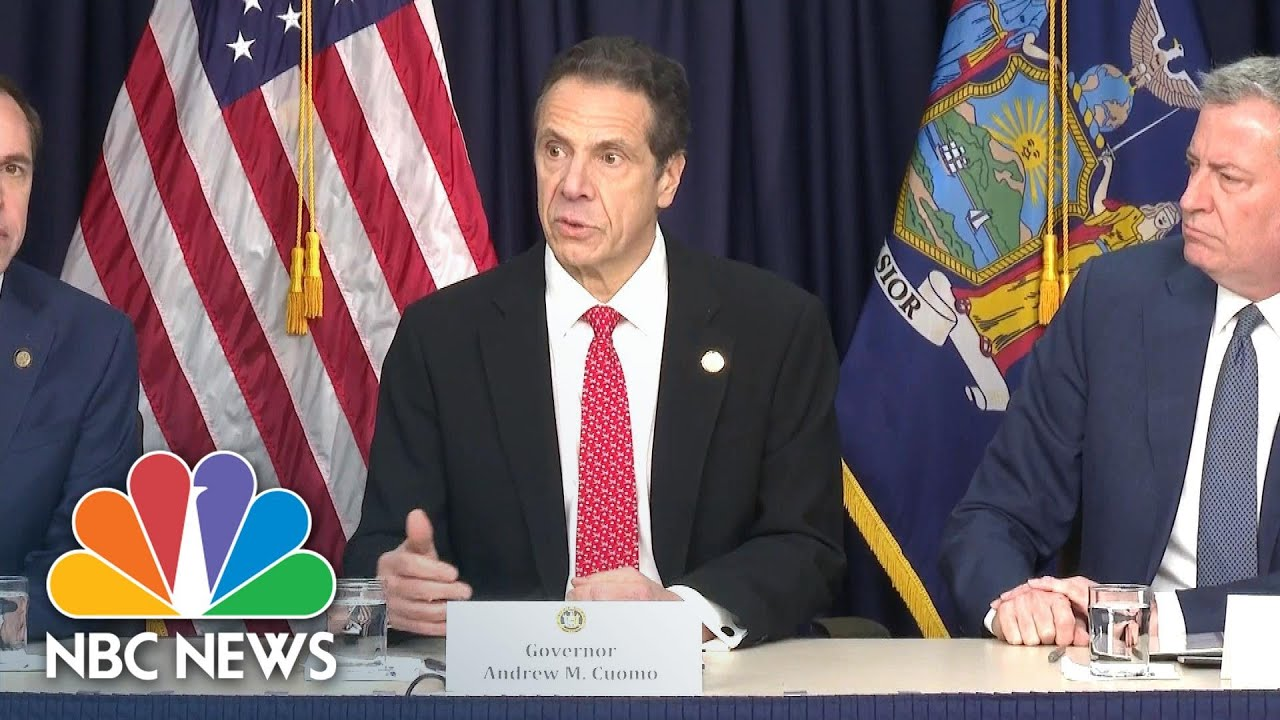 Cuomo Reviews N.Y.'s First Coronavirus Case, Assures Public 'It Is Deep Breath Time'   NBC News thumbnail
