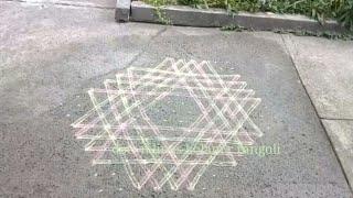 Aishwarya kolam style star rangoli designs | 15 × 8 dots muggulu | Thai poosam special kolam