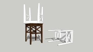 How To Draw Ikea Ingolf Stool On Sketchup