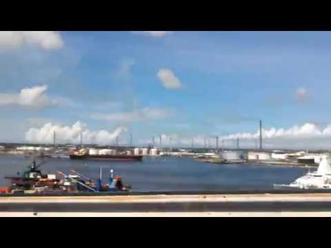 Driving over the Willemstad Curacao bridge