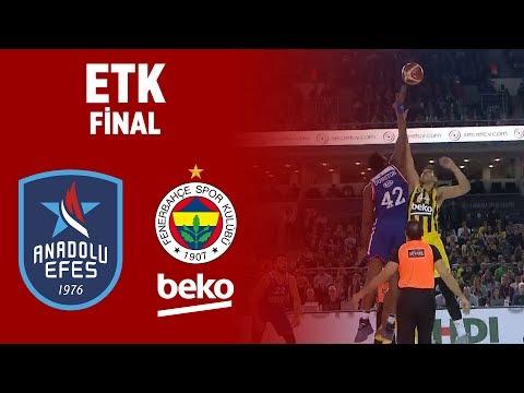 Erkekler Türkiye Kupası Finali | Fenerbahçe Beko 80-70 Anadolu Efes
