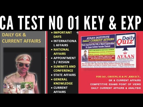 CA April TEST NO 1 KEY & EXPLANATION BY AYAAN INSTITUTE