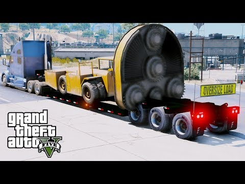GTA 5 REAL LIFE MOD - ANOTHER DAY AT WORK #43 Hauling A Giant Drill & Drilling Underground Tunnels