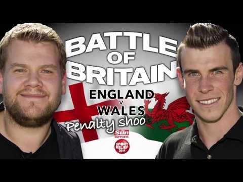 James Corden and Gareth Bale Take Penalties!