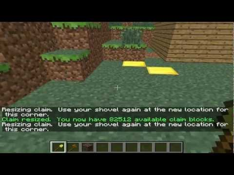 Claim Your Land [Golden Shovel] Tutorial Minecraft
