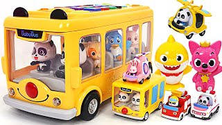 Let's play with Baby Bus, Baby Shark and Tayo friends! Singing Baby Bus~! | PinkyPopTOY