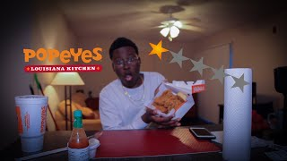 Worst Reviewed Popeyes Ever! *1 Star Rating* (Extreme Crunch Sounds)