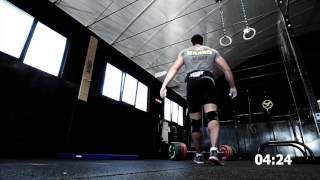 Xenios USA athlete Andrea Barbotti from Team Elite performs wod '' Mazinga ''