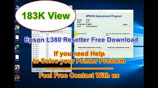 Epson L380 Printer Resetter software download