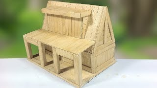 How to Make Popsicle Stick House | Ice Cream Stick House