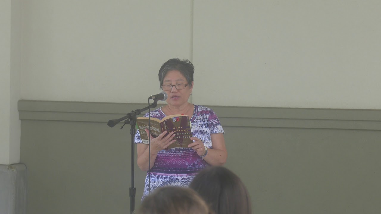 Susan St. John reading Slaughterhouse-Five