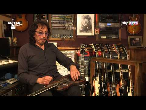Tony Iommi on his Jaydee 'Old Boy' Custom guitar