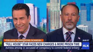 Discussing Lori Loughlin Case o HLN News with Mike Galanos
