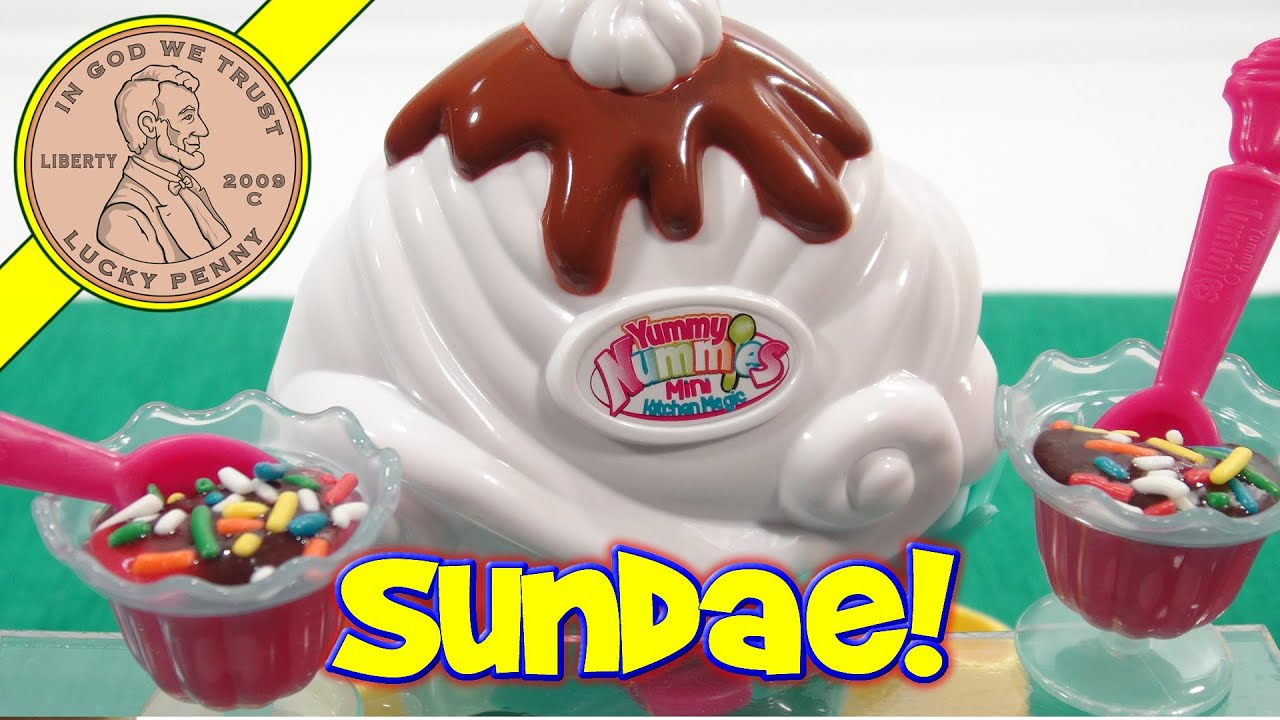 Yummy Nummies Sundae Maker Mini Kitchen Magic - YouTube