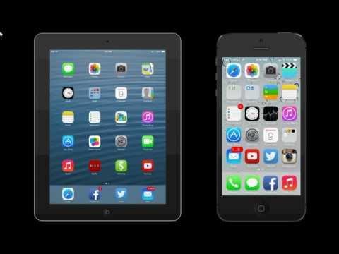 AirDrop Demo - IPad Mini - IPhone 5S IOS 7.0.2
