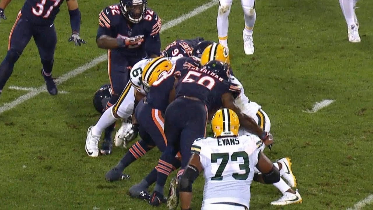 Davante Adams Knocked Out On Brutal Hit By Danny Trevathan  9680225cd