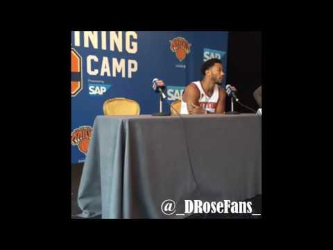 Derrick Rose FULL INTERVIEW in New York Knicks Media Day!
